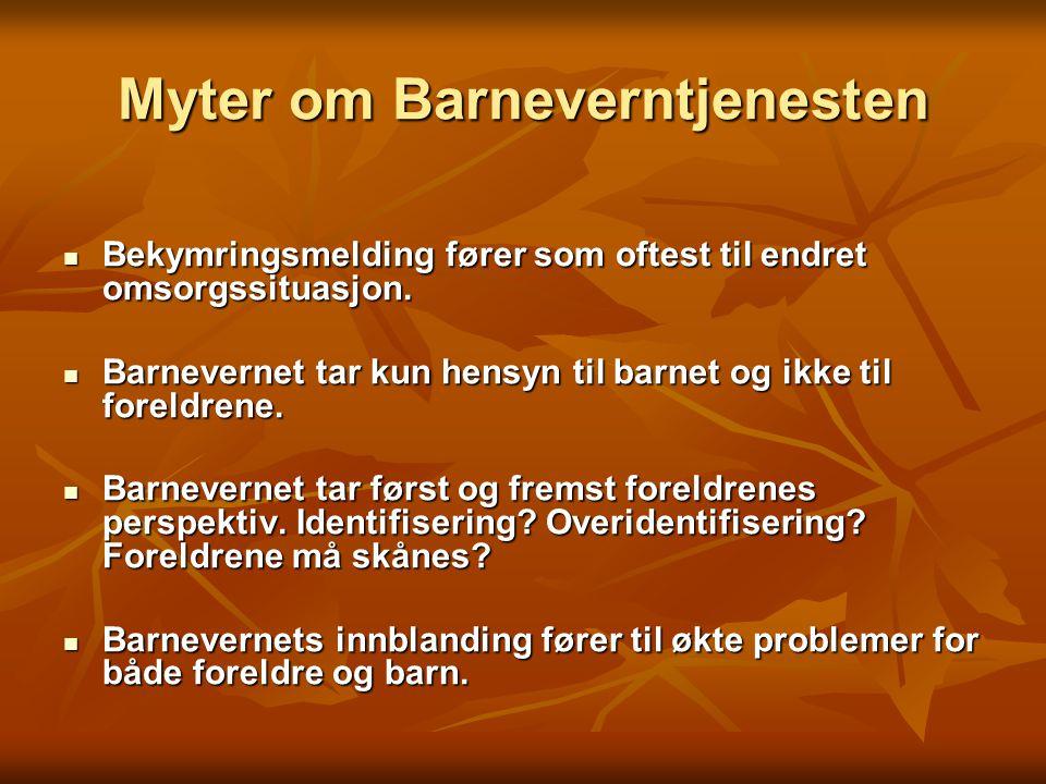 Myter om Barneverntjenesten
