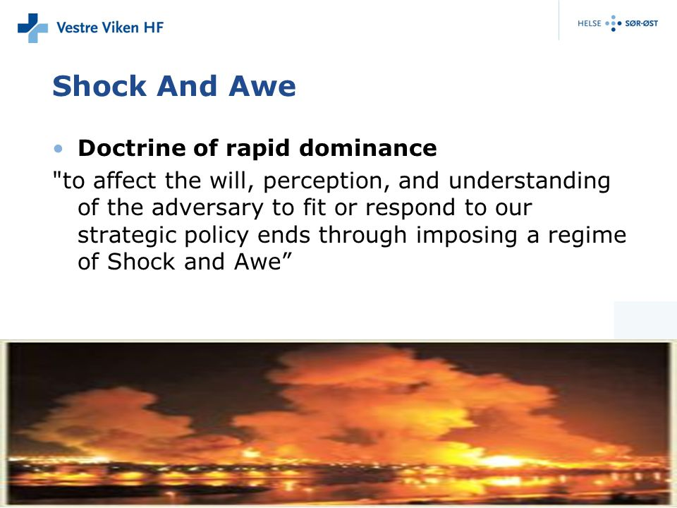 Shock And Awe Doctrine of rapid dominance