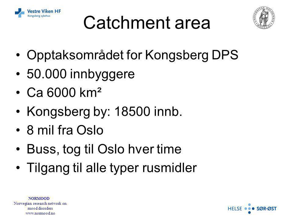 Catchment area Opptaksområdet for Kongsberg DPS 50.000 innbyggere