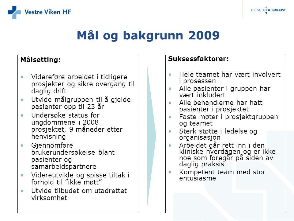 Mål og bakgrunn 2009 Målsetting: