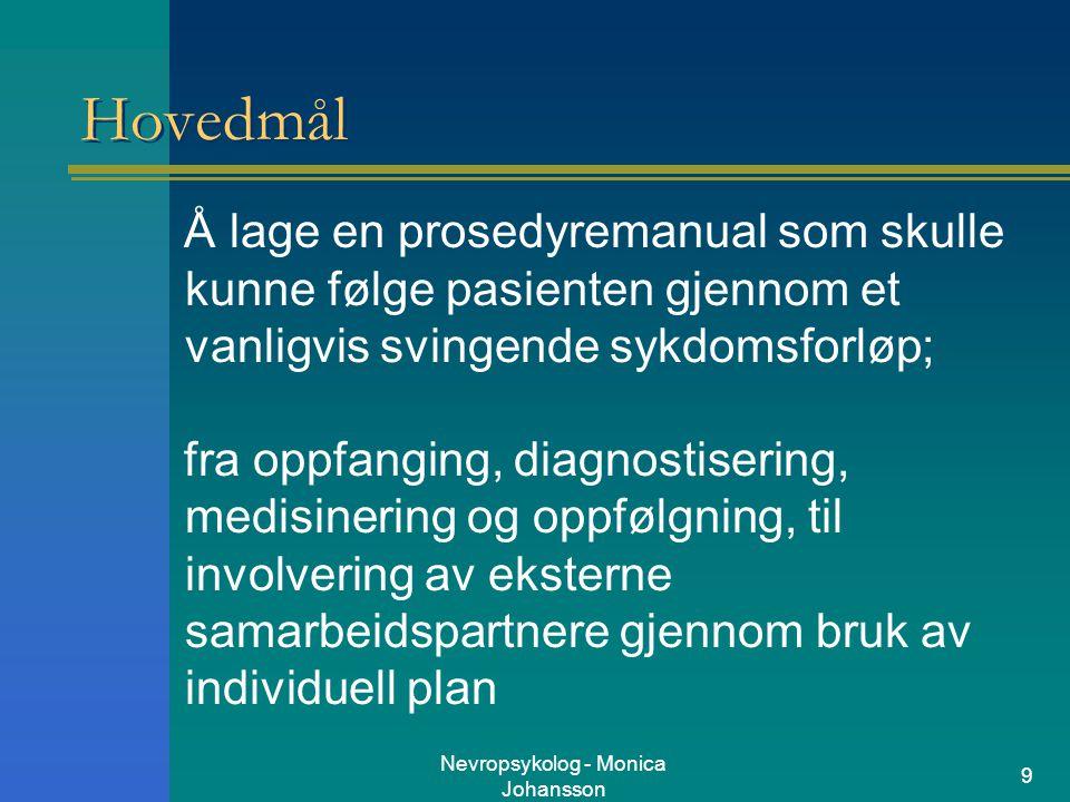 Nevropsykolog - Monica Johansson