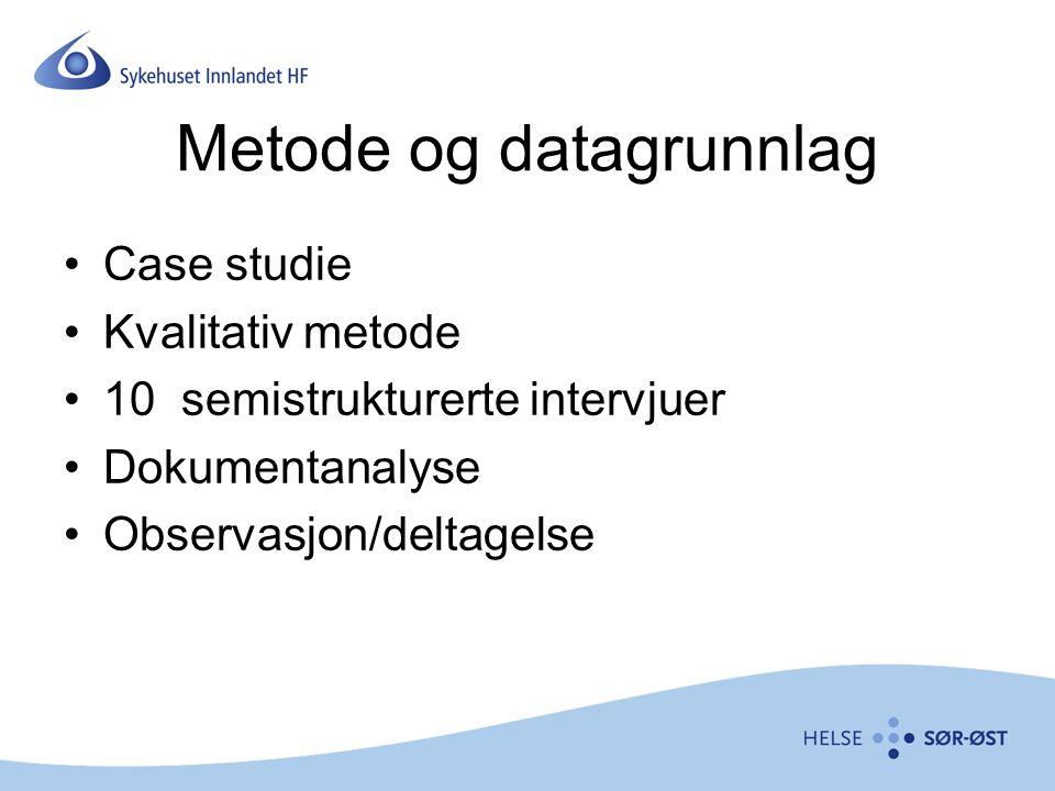Metode og datagrunnlag