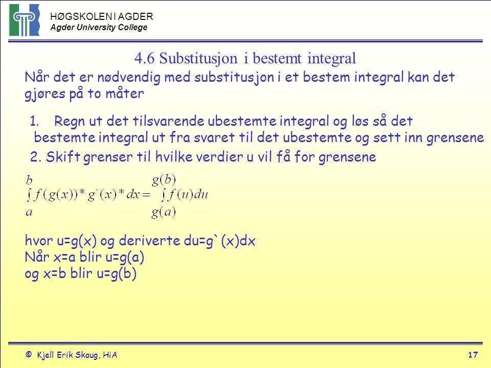 4.6 Substitusjon i bestemt integral