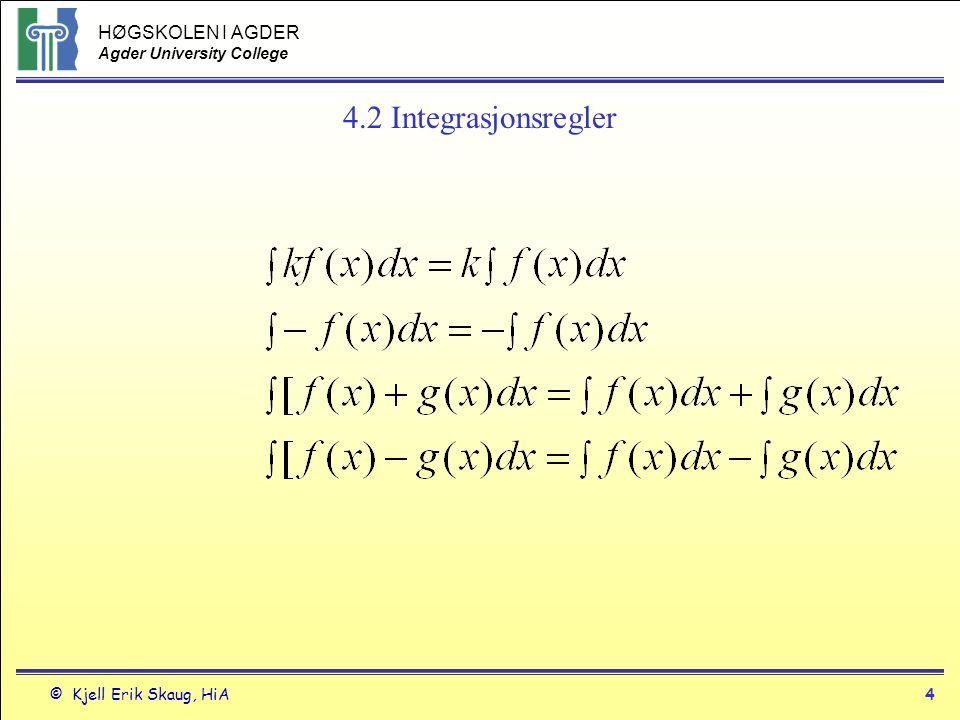 4.2 Integrasjonsregler