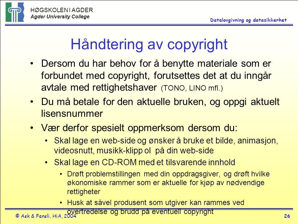 Håndtering av copyright