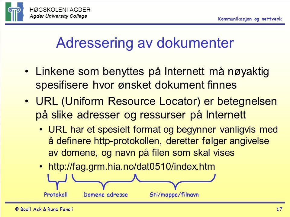 Adressering av dokumenter