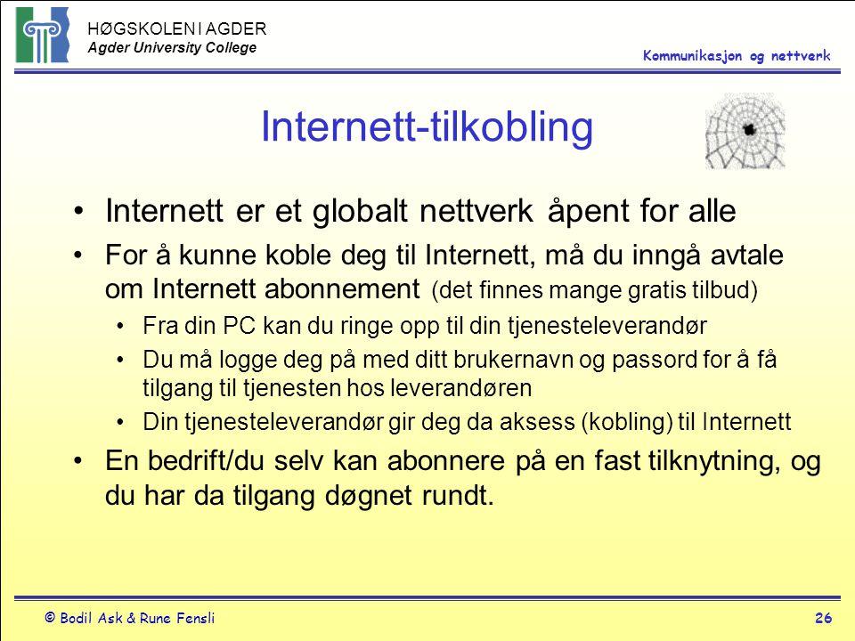 Internett-tilkobling