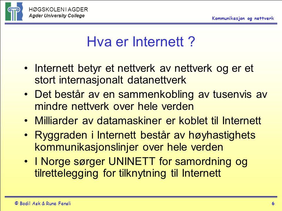 Hva er Internett Internett betyr et nettverk av nettverk og er et stort internasjonalt datanettverk.