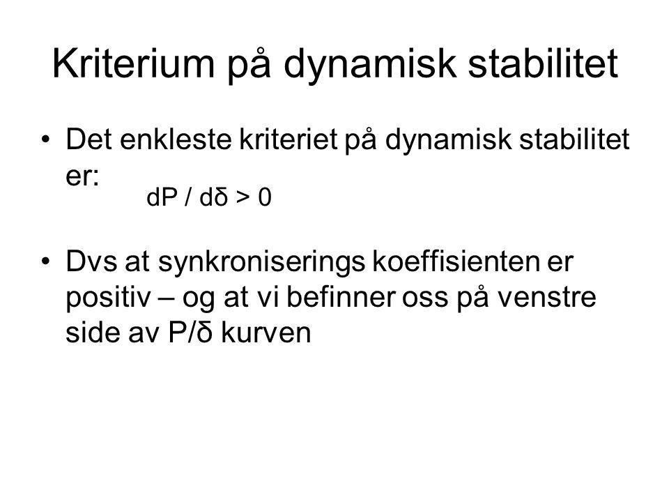 Kriterium på dynamisk stabilitet