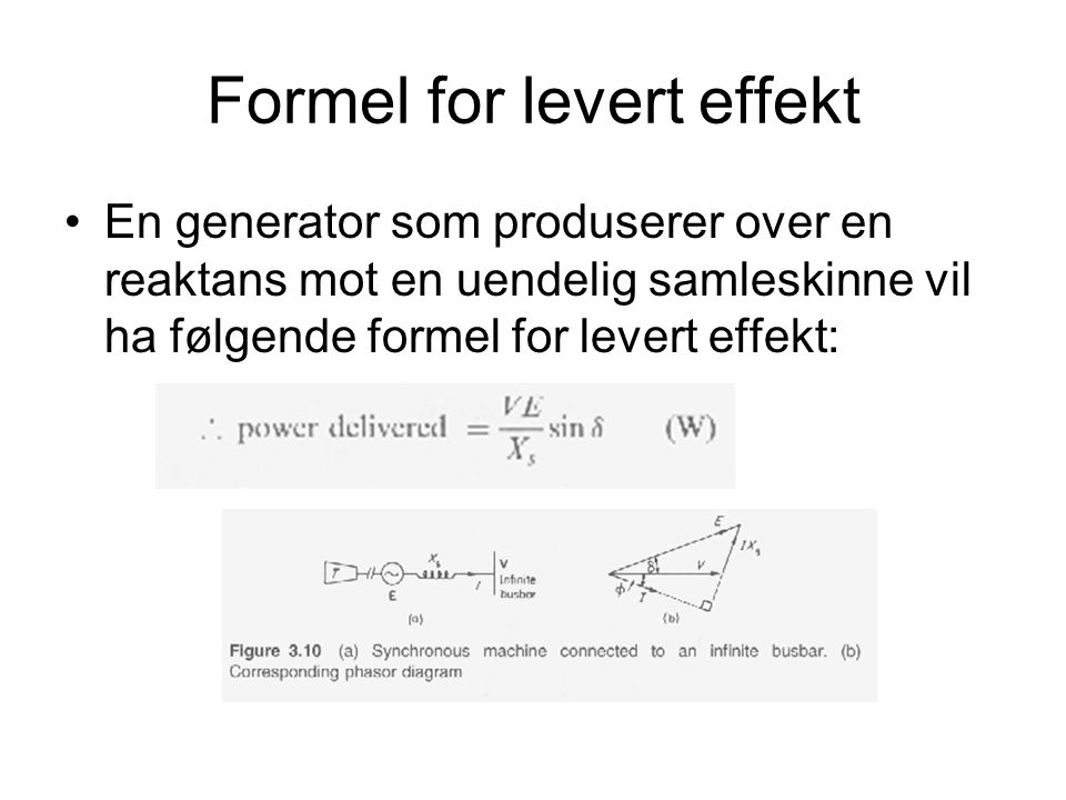 Formel for levert effekt