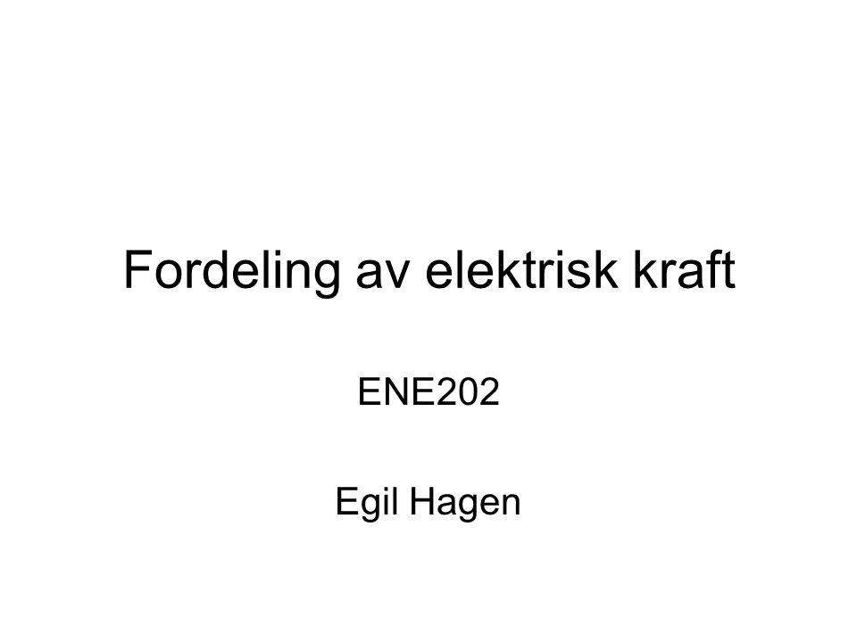 Fordeling av elektrisk kraft