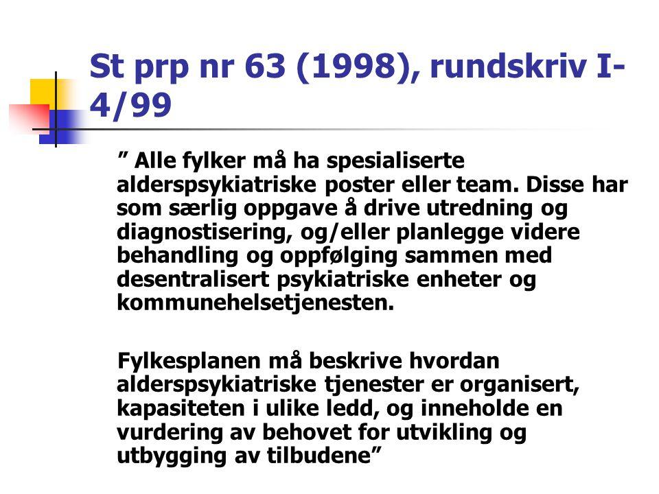 St prp nr 63 (1998), rundskriv I-4/99
