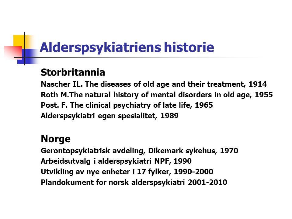 Alderspsykiatriens historie