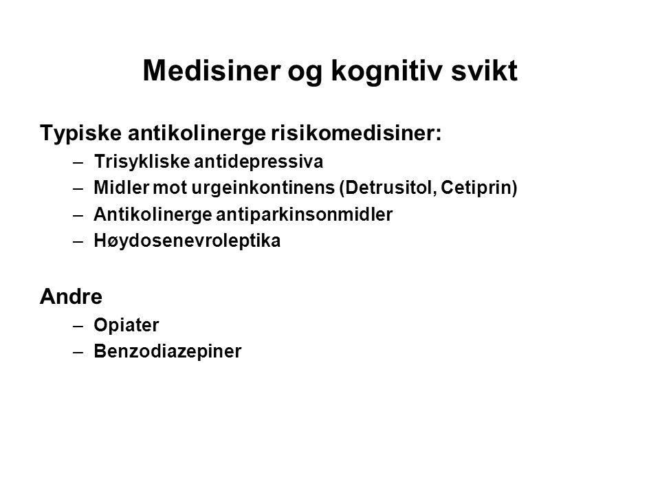 Medisiner og kognitiv svikt