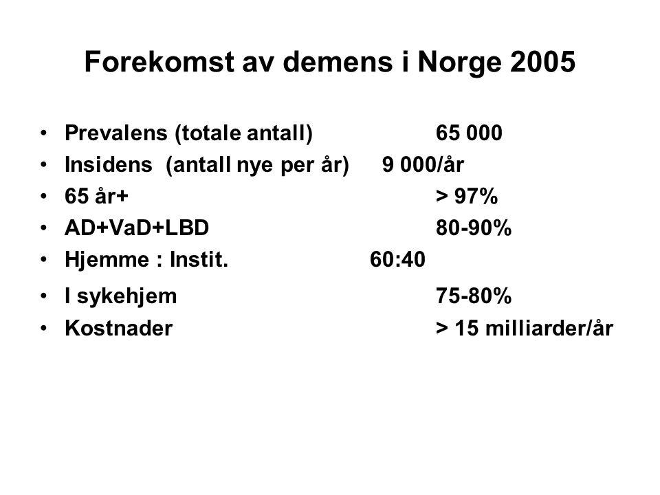 Forekomst av demens i Norge 2005