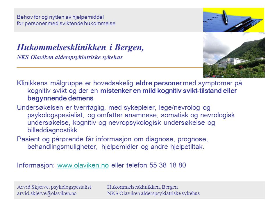 Hukommelsesklinikken i Bergen,