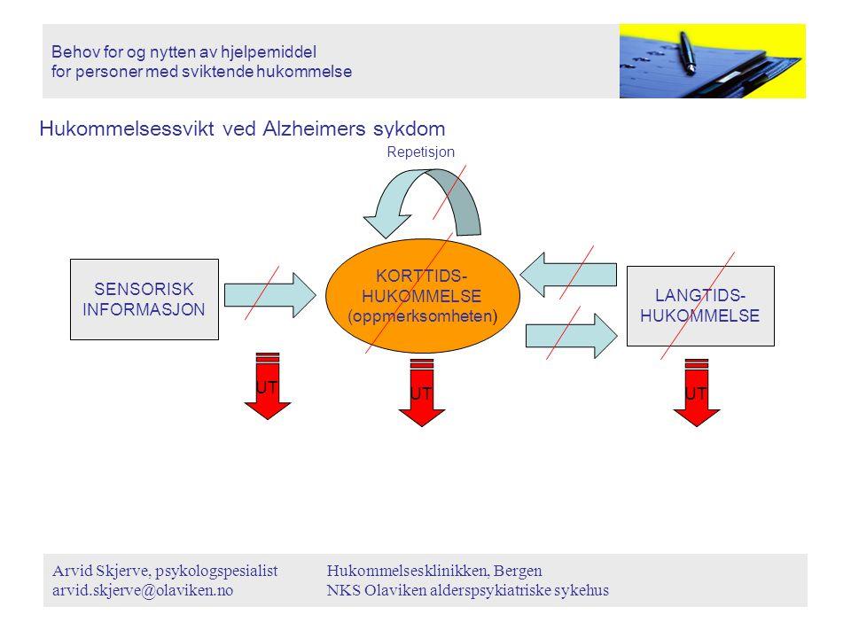 Hukommelsessvikt ved Alzheimers sykdom