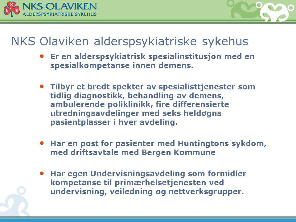 NKS Olaviken alderspsykiatriske sykehus