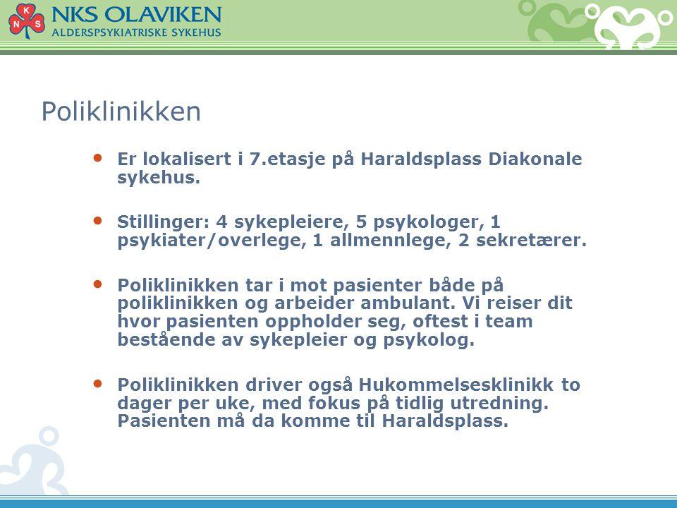 Poliklinikken Er lokalisert i 7.etasje på Haraldsplass Diakonale sykehus.