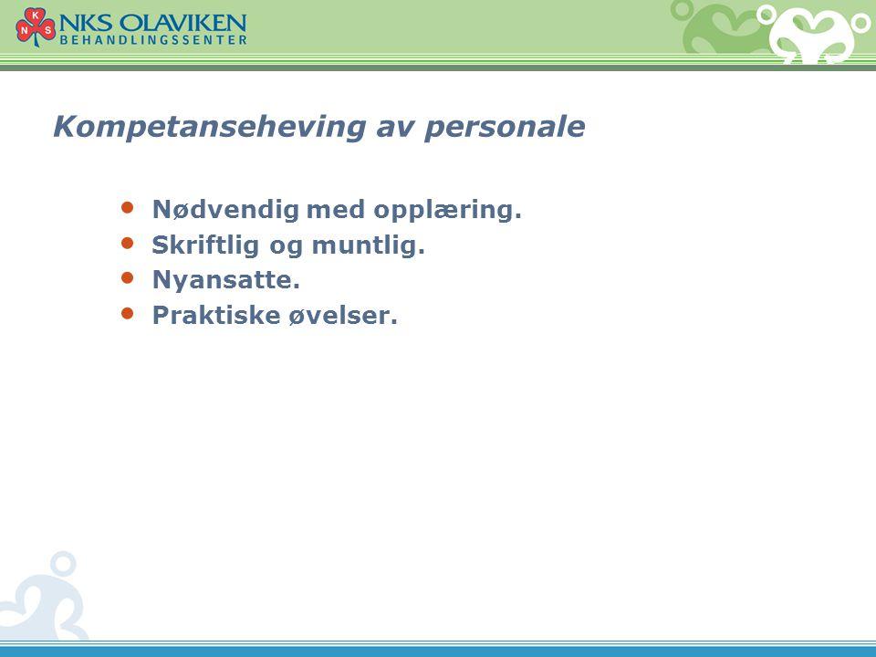 Kompetanseheving av personale