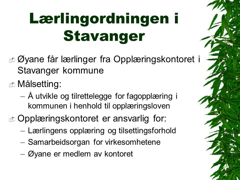 Lærlingordningen i Stavanger