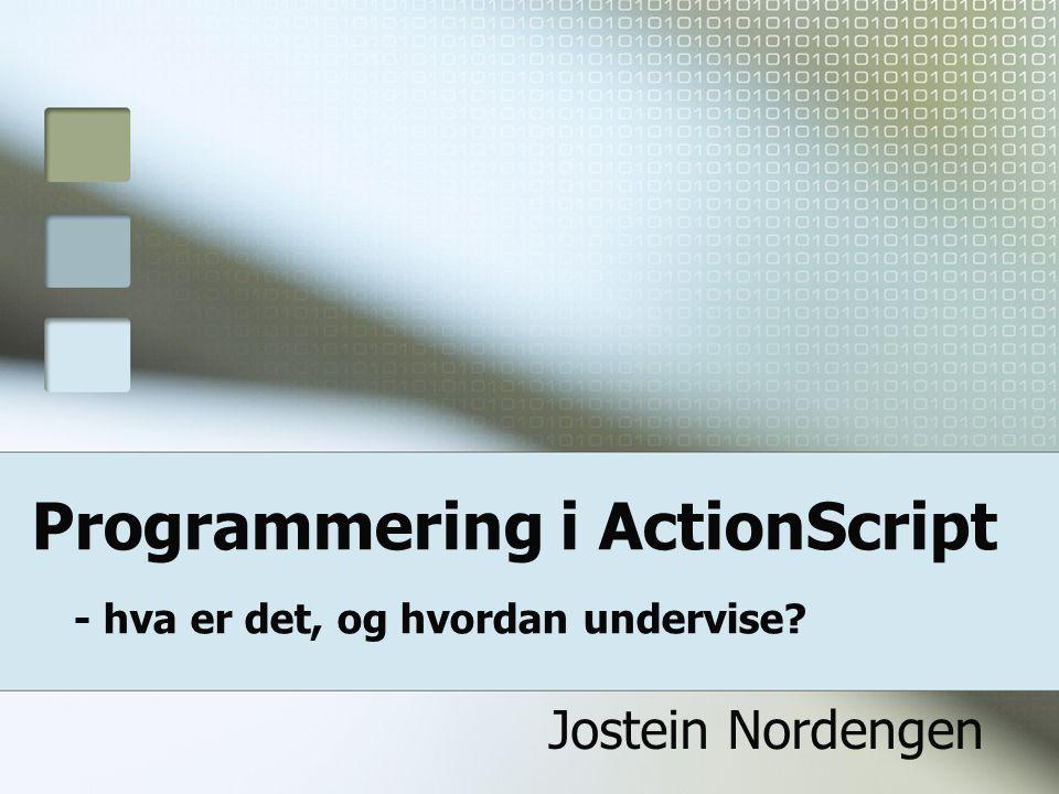 Programmering i ActionScript - hva er det, og hvordan undervise