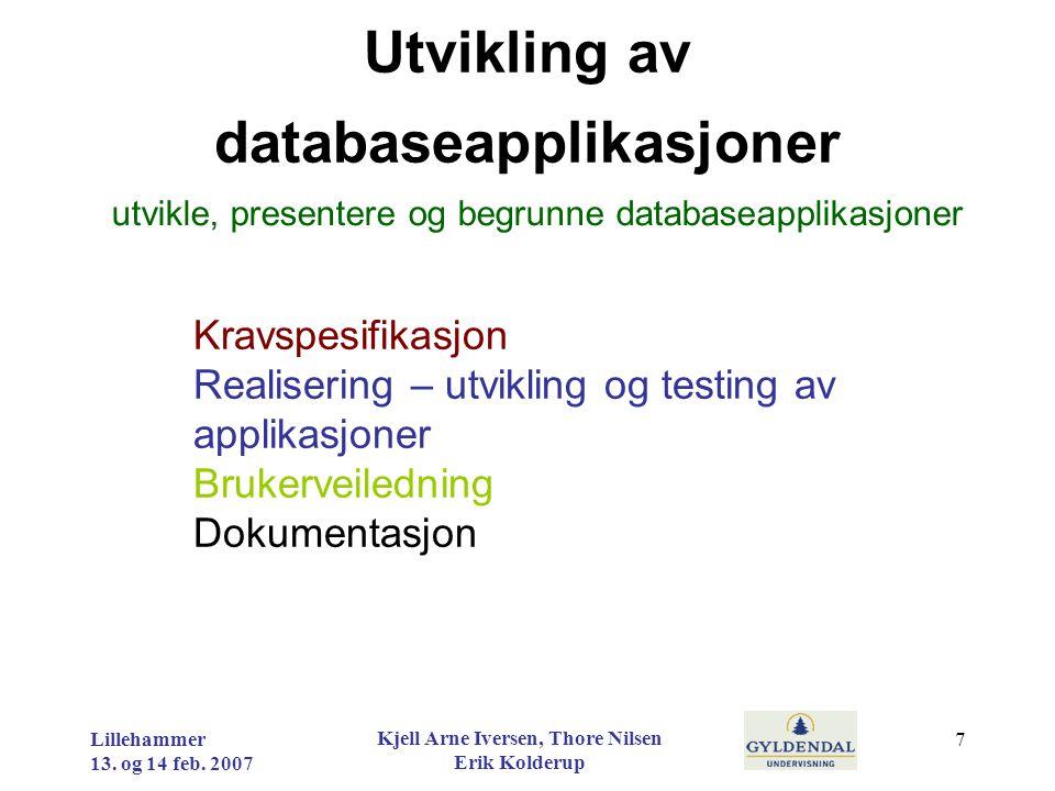 Utvikling av databaseapplikasjoner