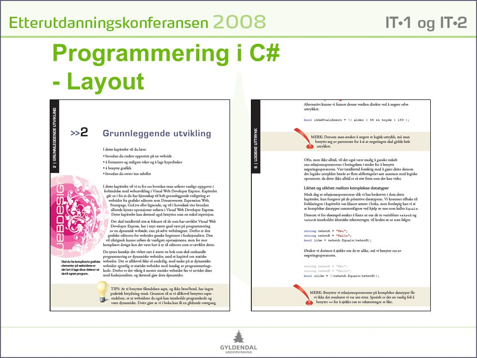 Programmering i C# - Layout