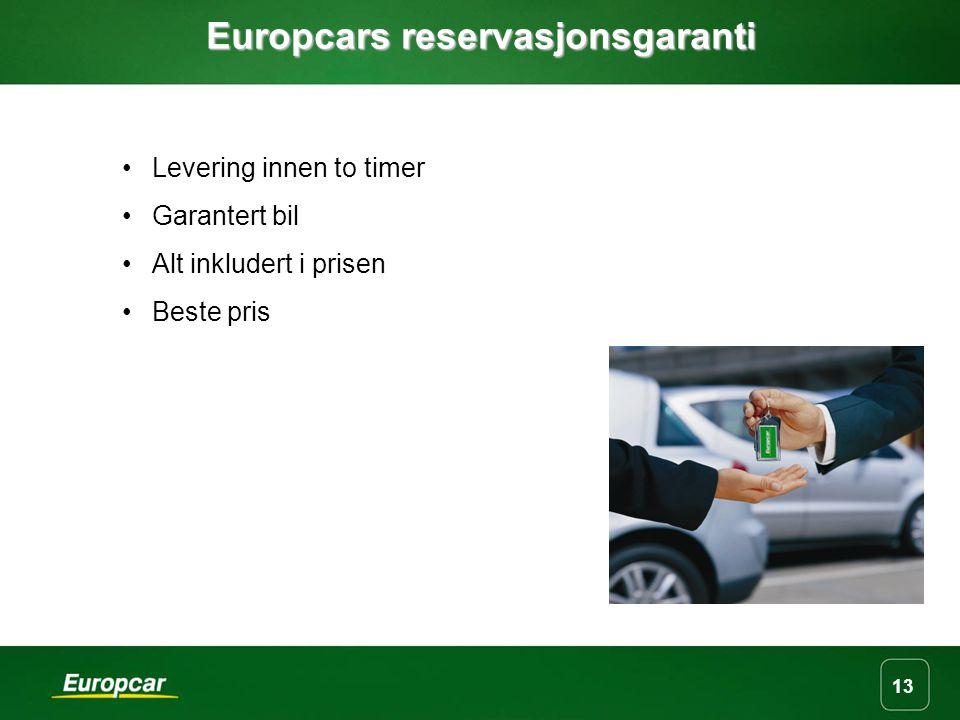 Europcars reservasjonsgaranti