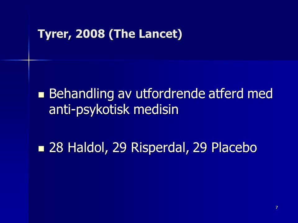 Behandling av utfordrende atferd med anti-psykotisk medisin