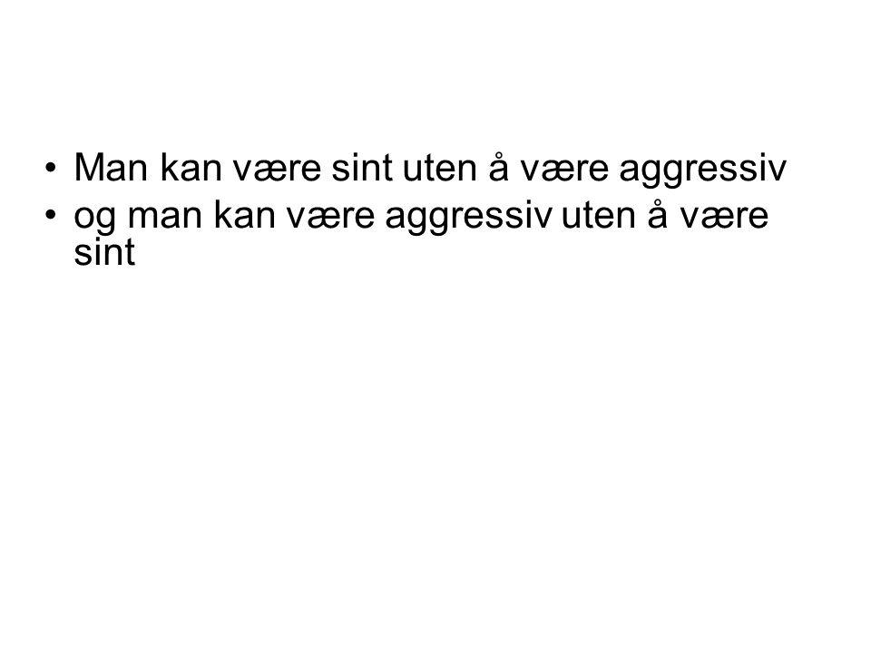 Man kan være sint uten å være aggressiv