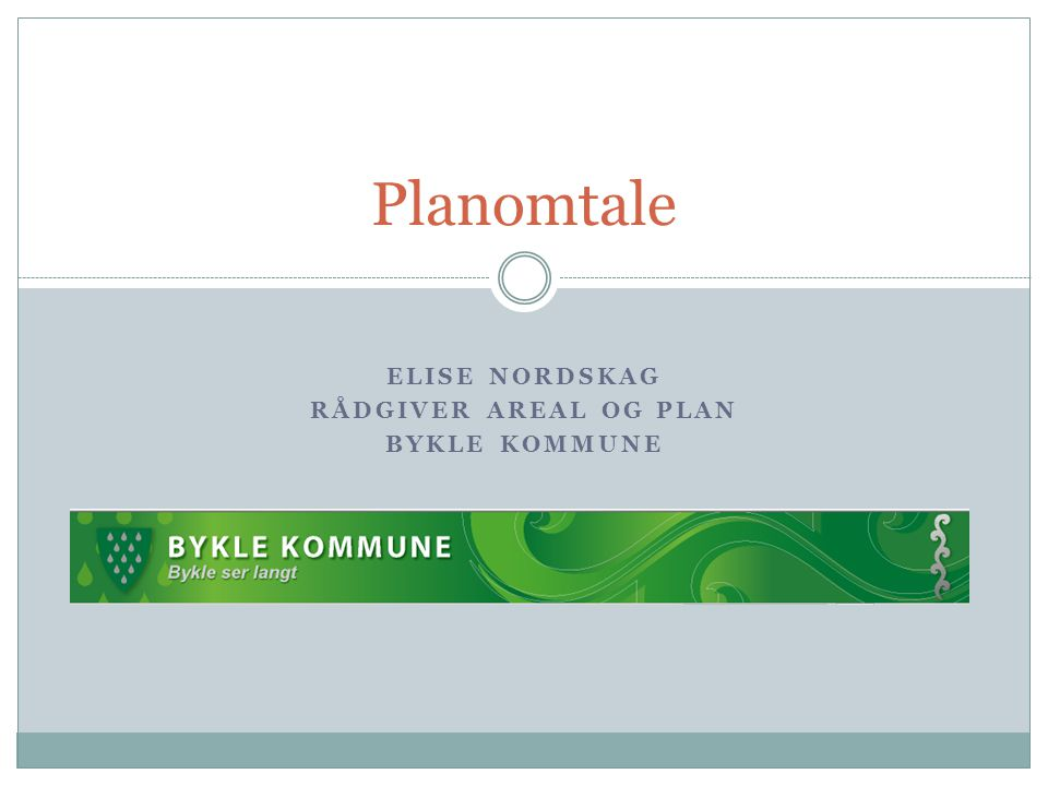 Elise Nordskag Rådgiver areal og plan Bykle kommune