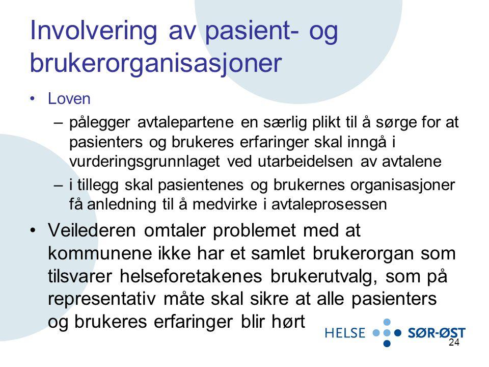 Involvering av pasient- og brukerorganisasjoner