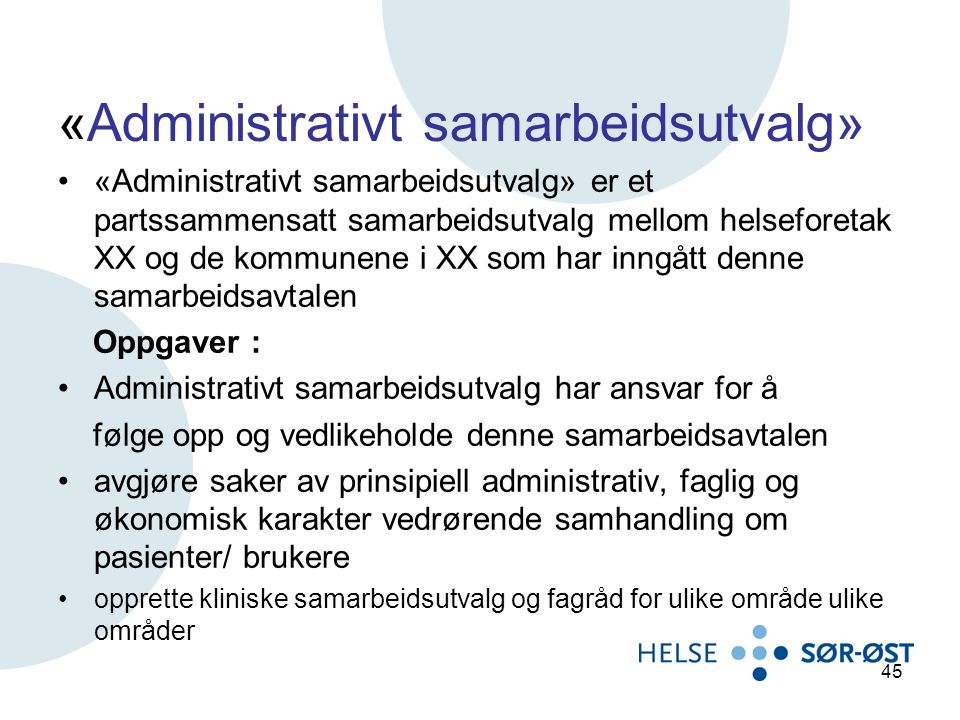 «Administrativt samarbeidsutvalg»