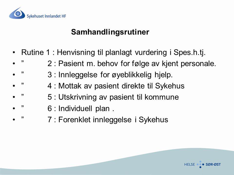 Rutine 1 : Henvisning til planlagt vurdering i Spes.h.tj.