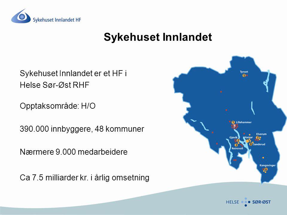 Sykehuset Innlandet Sykehuset Innlandet er et HF i Helse Sør-Øst RHF