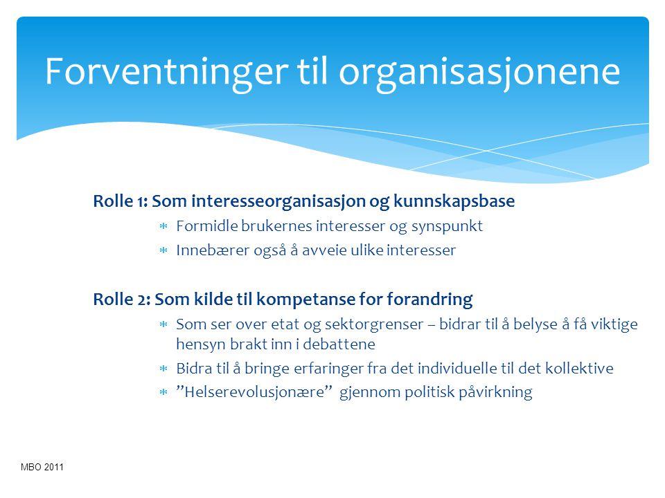 Forventninger til organisasjonene