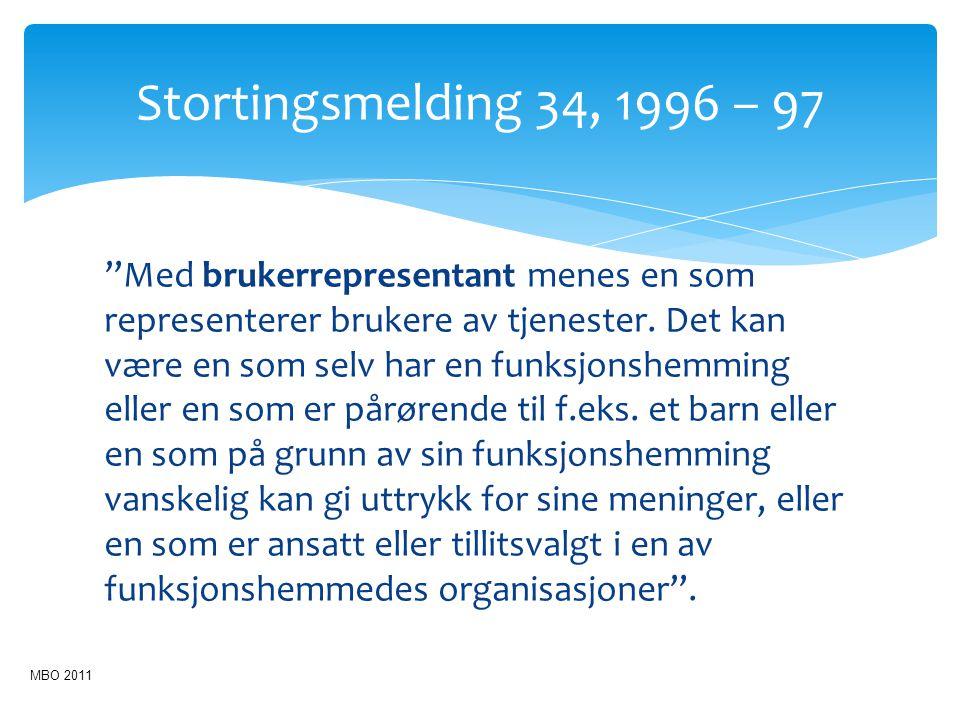 Stortingsmelding 34, 1996 – 97