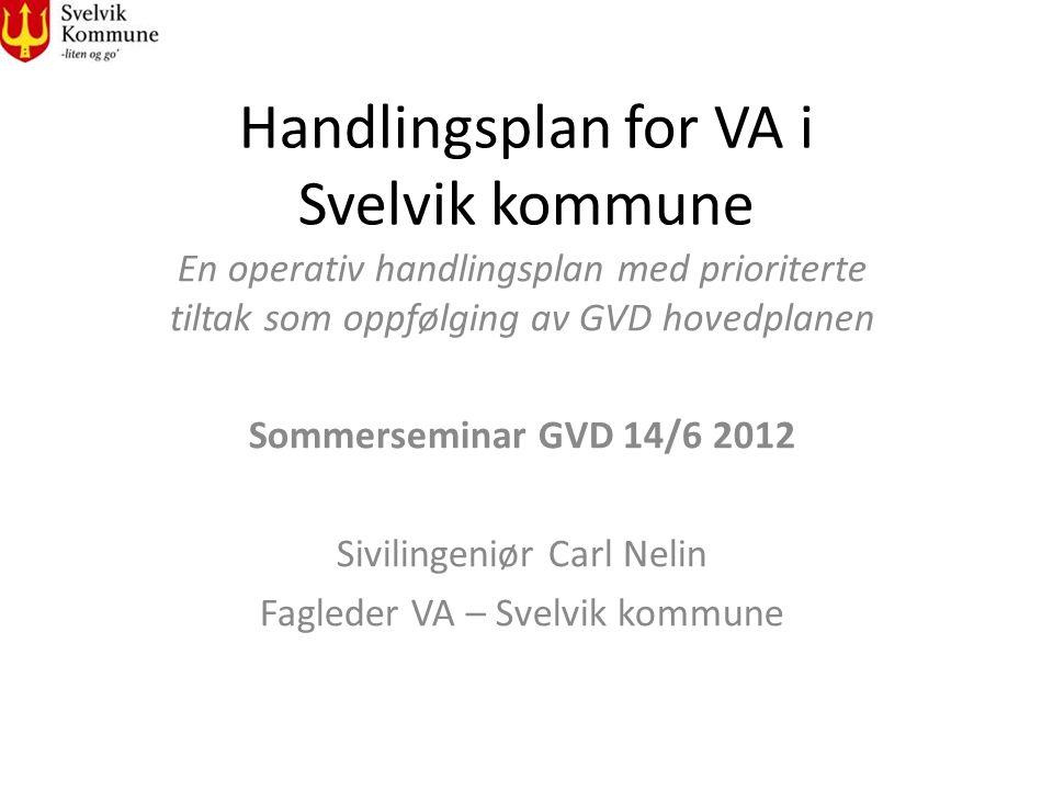 Handlingsplan for VA i Svelvik kommune