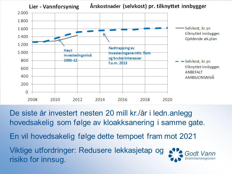 De siste år investert nesten 20 mill kr. /år i ledn