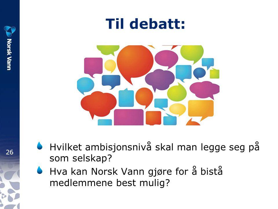Til debatt: Hvilket ambisjonsnivå skal man legge seg på som selskap
