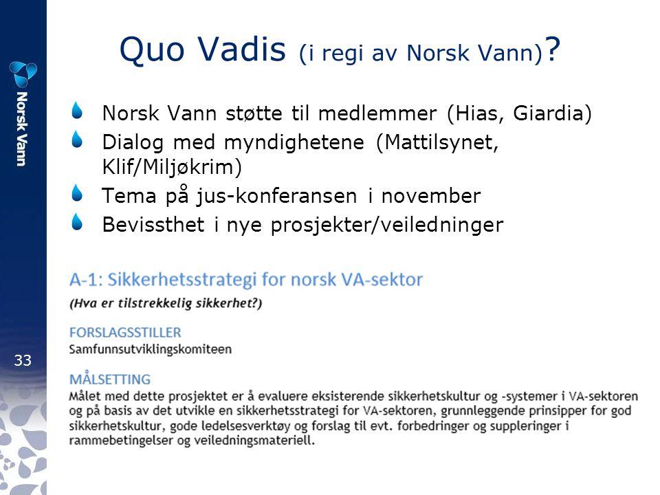 Quo Vadis (i regi av Norsk Vann)