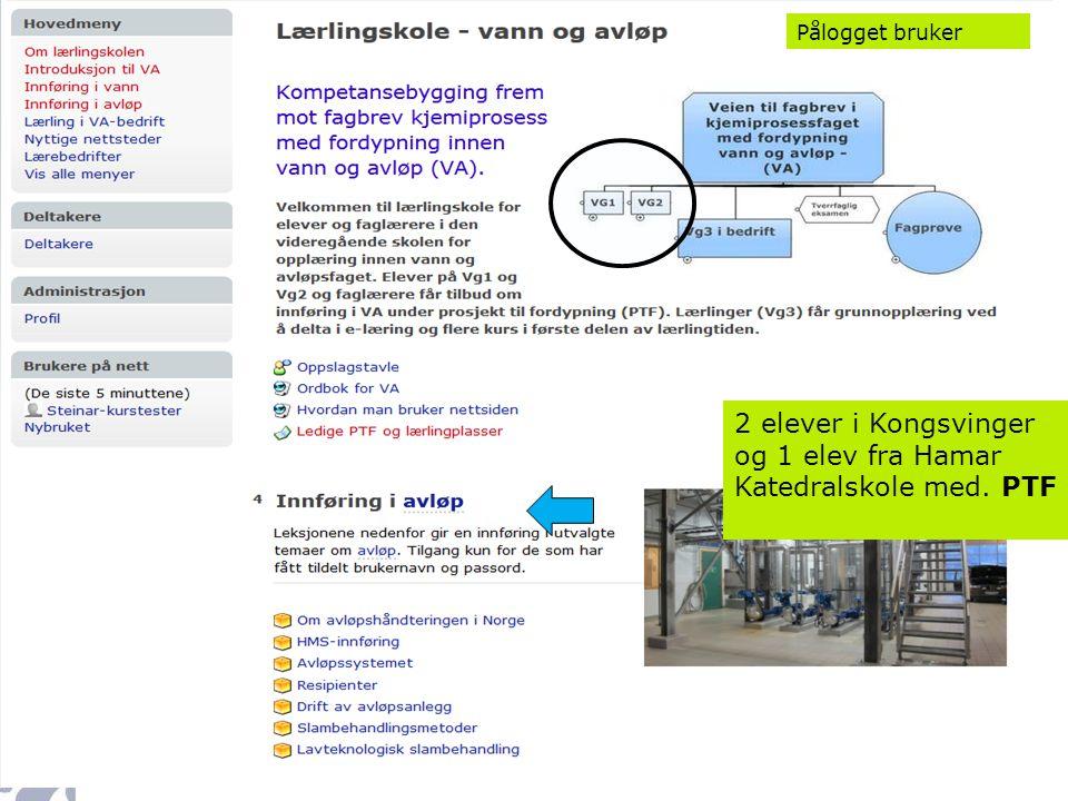 2 elever i Kongsvinger og 1 elev fra Hamar Katedralskole med. PTF