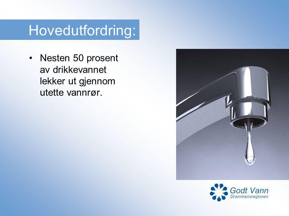 Hovedutfordring: Nesten 50 prosent av drikkevannet lekker ut gjennom utette vannrør.