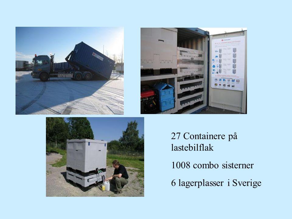 27 Containere på lastebilflak 1008 combo sisterner