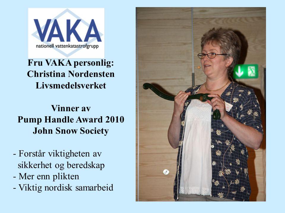 Fru VAKA personlig: Christina Nordensten
