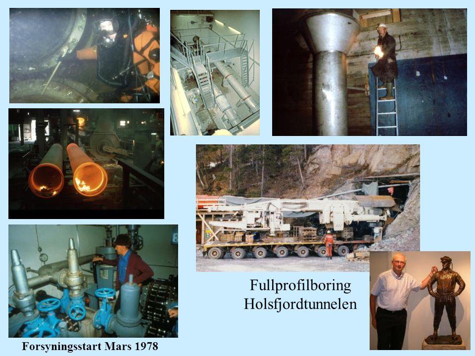 Fullprofilboring Holsfjordtunnelen Forsyningsstart Mars 1978