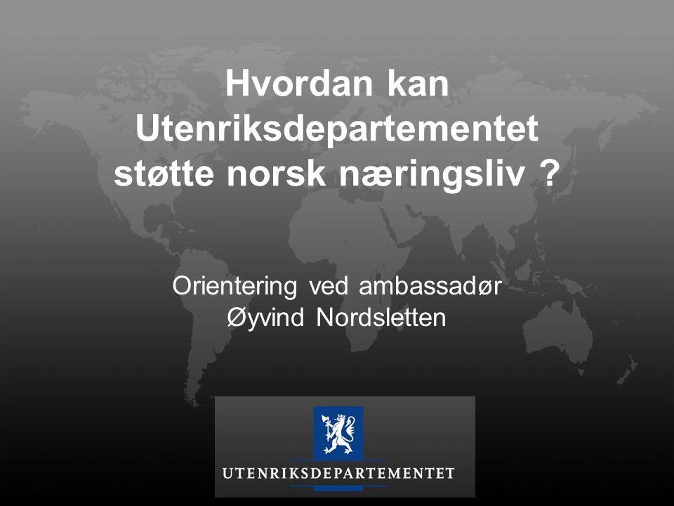 Hvordan kan Utenriksdepartementet støtte norsk næringsliv