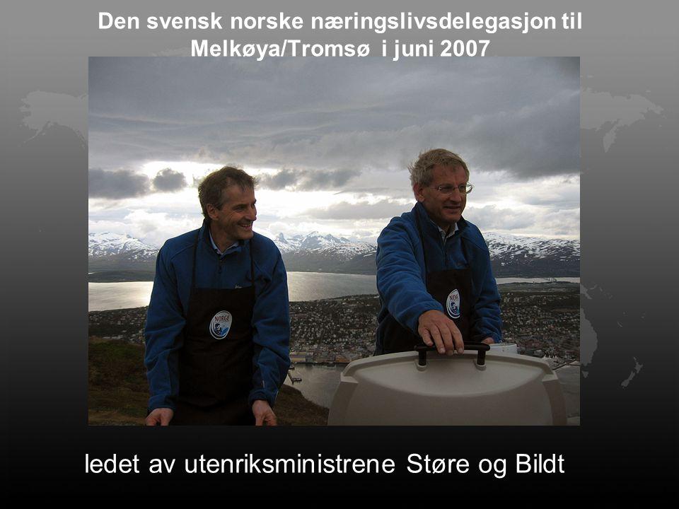 Den svensk norske næringslivsdelegasjon til Melkøya/Tromsø i juni 2007