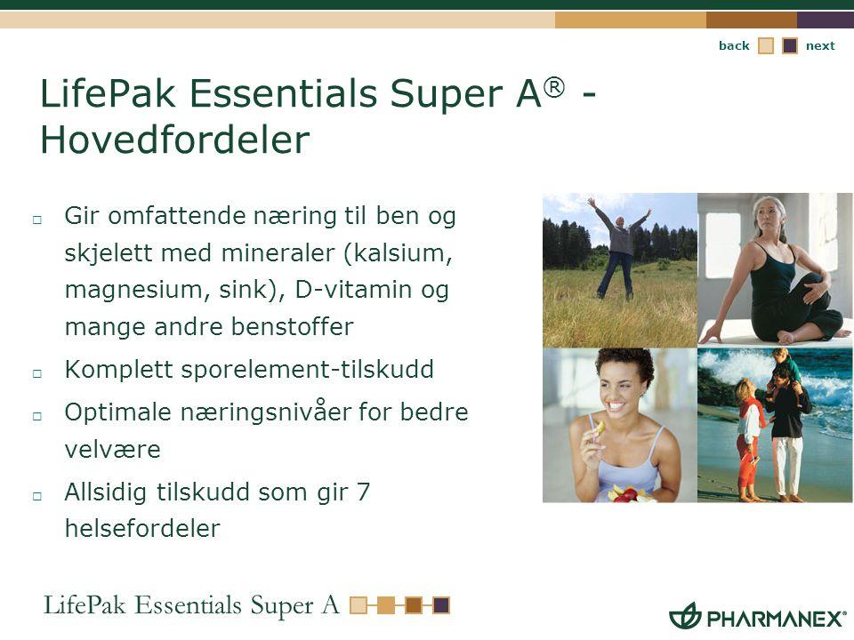 LifePak Essentials Super A® - Hovedfordeler